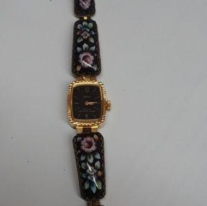 YANKA hand-painted porcelain enamel watch